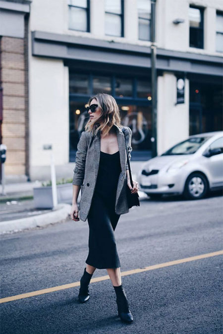 How to wear oversized blazer this fall #outfits #street #style #casual #dress