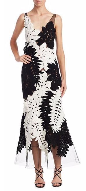 LOVIKA | Oscar de la Renta Semi Sheer Leaf Gown