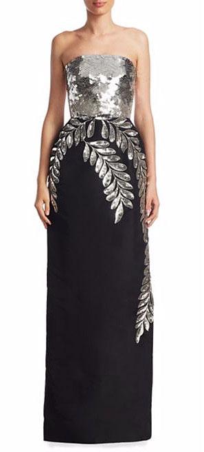 LOVIKA | Oscar de la Renta Silk Sequin Gown