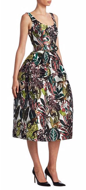 LOVIKA | Oscar de la Renta Sleeveless Jungle-Print Dress