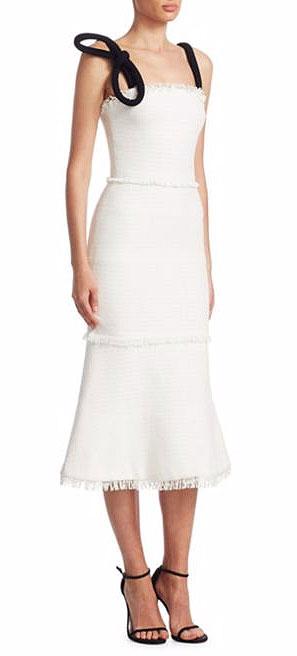 LOVIKA   Oscar de la Renta Cotton Tweed Dress