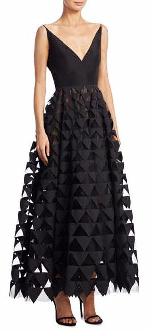 LOVIKA | Oscar de la Renta Silk Triangle Gown