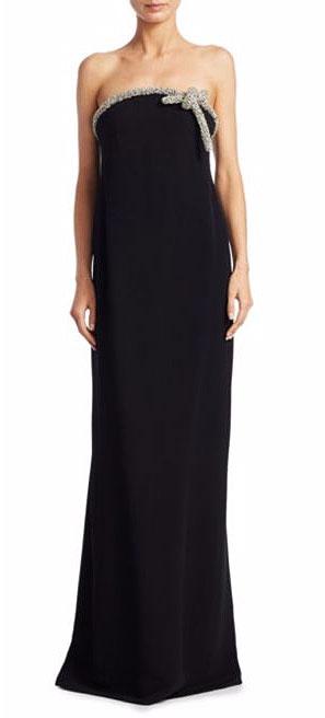 LOVIKA | Oscar de la Renta Strapless Embellished Gown