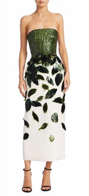 LOVIKA | Oscar de la Renta Strapless Faille Dress
