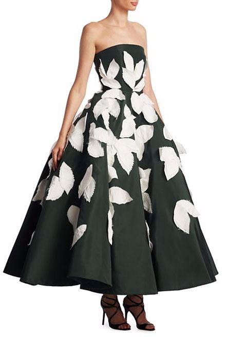 LOVIKA | Oscar de la Renta Silk Leaf Gown