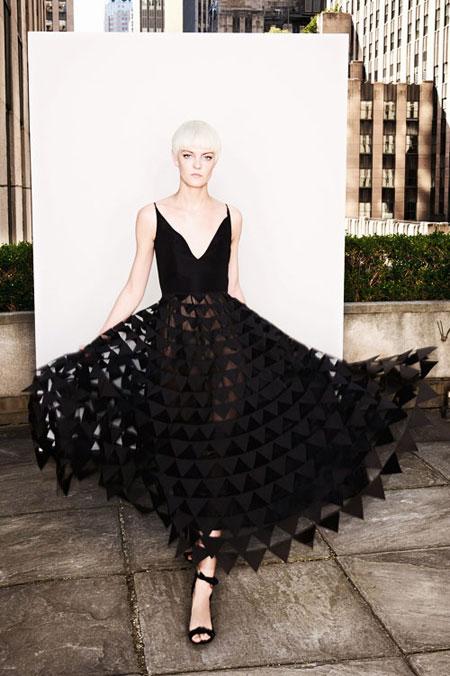 LOVIKA   Oscar de la Renta Spring 2018 lookbook #resort #editorial #evening #black #gown #dress