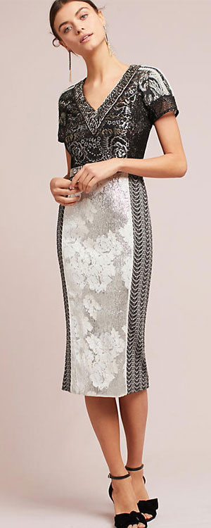 Anthropologie Sophie column dress