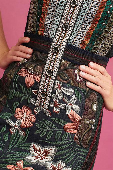 Anthropologie Lillian column dress