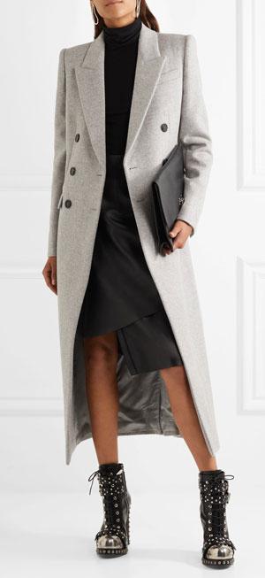 ALEXANDER MCQUEEN Brushed-wool coat