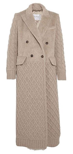 MAX MARA Alda paneled wool and cashmere-blend coat