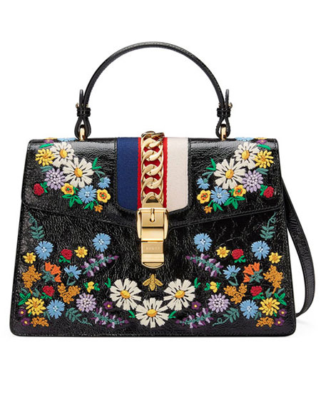 LOVIKA | Gucci Sylvie Medium Floral bags from pre-spring 2018 #resort #handbags