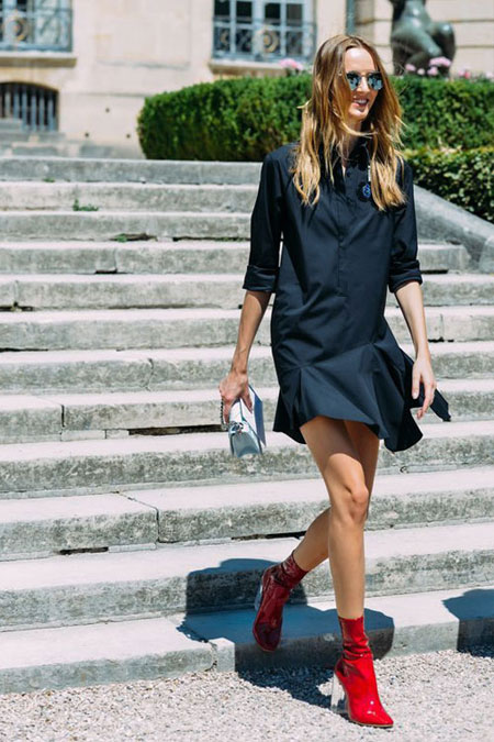 LOVIKA | How to wear red boots outfit ideas #OOTD #booties #fall