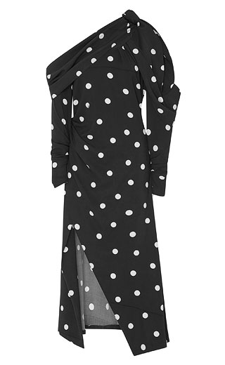 LOVIKA | Polka dot off-the-shoulder dress #clothing #outfit