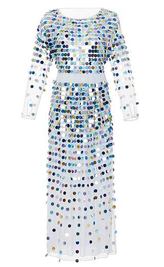 LOVIKA | Polka dot sequin maxi dress #clothing #outfit