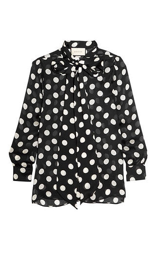 LOVIKA | Polka dot pussy-bow blouse #top #clothing