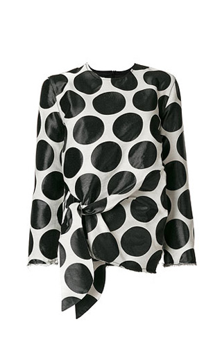 LOVIKA | Polka dot sheer blouse #top #black #clothing