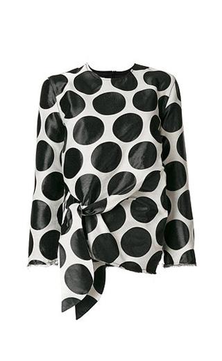 LOVIKA | Polka dot sheer blouse #top #black #clothing