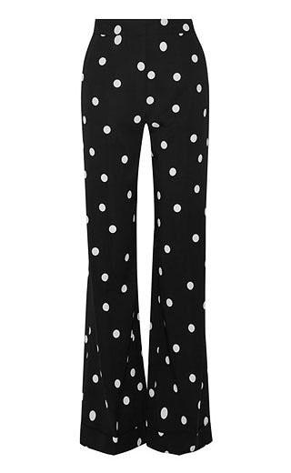 LOVIKA | Polka dot wide leg pants #clothing #monse