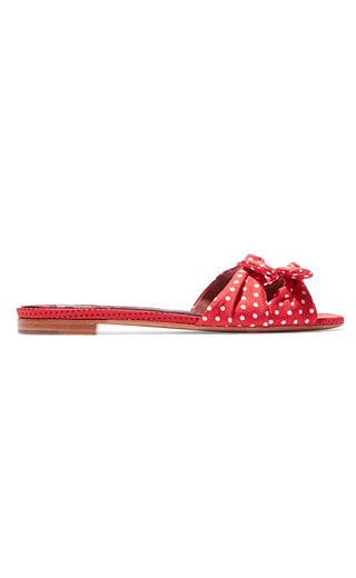 LOVIKA | Polka dot flat mules #slides #slippers
