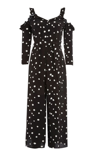 LOVIKA | Black polka-dot jumpsuit #clothing