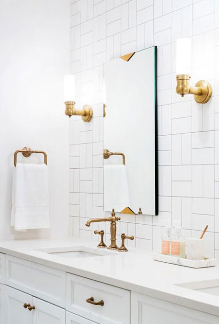 Interior Bathroom Gold Accents Amp Fixtures