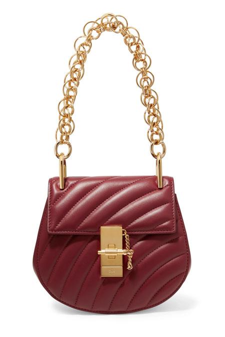 Parisian chic essential - Chloe Bijou quilted drew bags