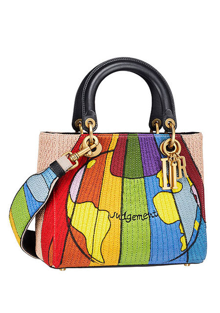 "Lady Dior ""Judgement"" Embroidered Motherpeace Handbag #bags"