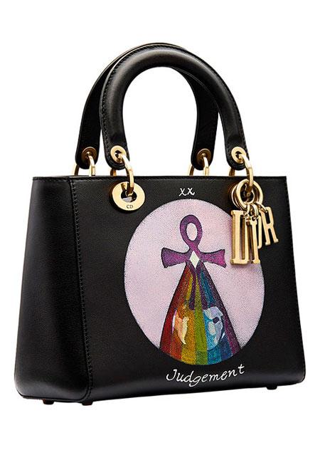 "Lady Dior ""Judgement"" Handpainted Motherpeace Tarot Handbag #bags"