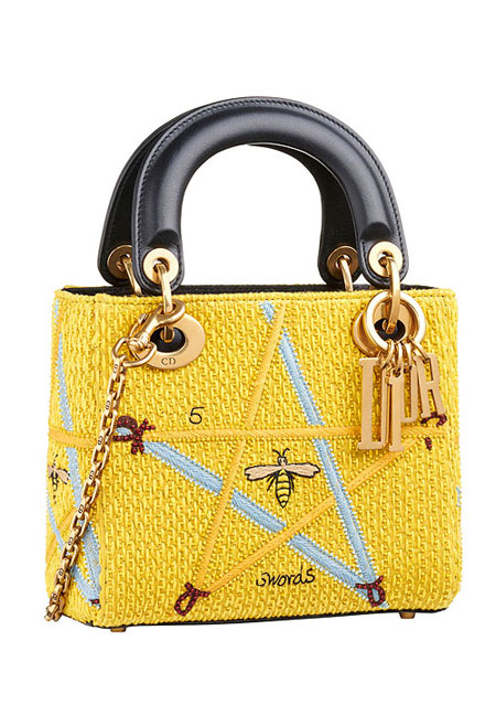 "Lady Dior ""Swords"" Embroidered Motherpeace Tarot Handbag #bags"