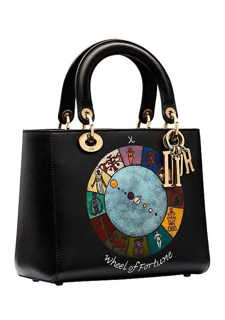 "Lady Dior ""Wheel of Fortune"" Handpainted Motherpeace Tarot Handbag #bags"