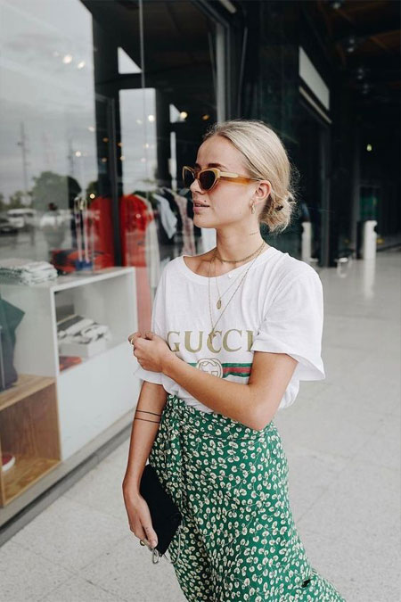 Gucci t-shirt outfit ideas #outfits #ootd