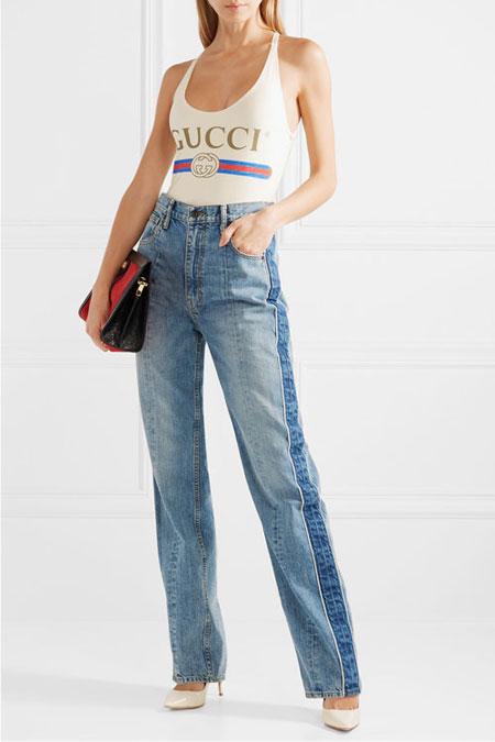 Gucci logo one-piece swimsuit #white #swimwear