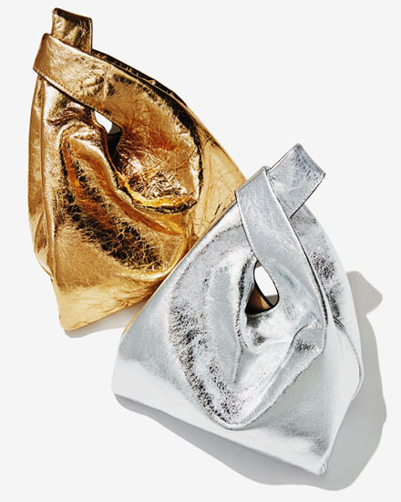 Hayward metallic foil shopper tote bags