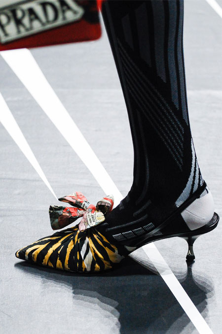Lovika Style Crush - Prada large bow pointy-toe pumps sandals and mules #shoes