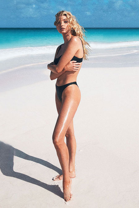 Solid & Striped one-piece swimwear editorial lookbook #swimsuit #bikini