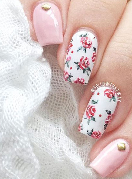 40 Spring nails design and ideas with flowers #bright #colors #floral