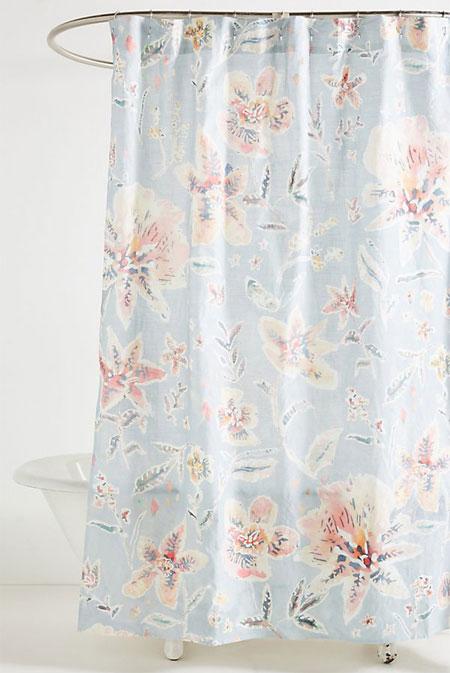 Interior Inspo - Shower curtain ideas for Spring #floral #boho