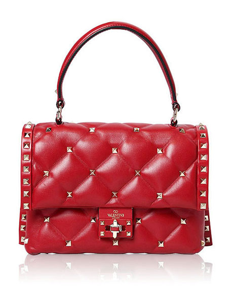 Valentino candy-stud top handle shoulder bags #SS18 #rockstud