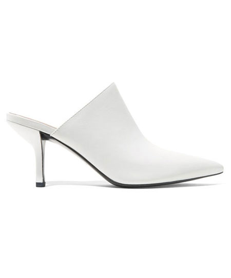 DVF Mikaila leather mules