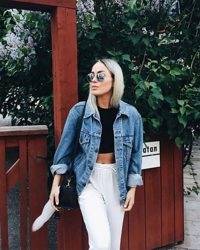 LOVIKA | 40 Stylish denim jacket outfit ideas to wear this Spring & look like a hipster #oversized