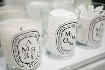 LOVIKA | 40 Decor Ideas to Reuse Your Diptyque Candles Jars - How to recycle and make it stylish #bathrooms