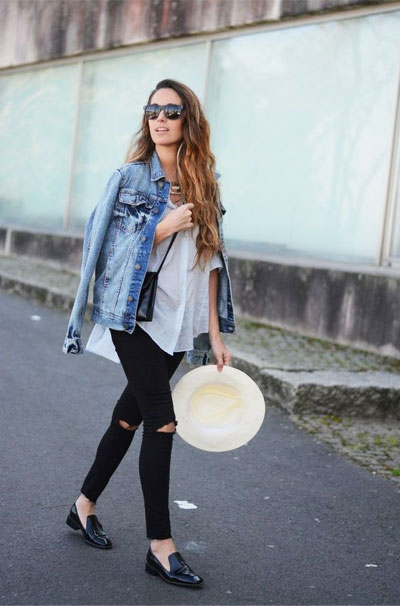 LOVIKA | 40 Stylish denim jacket outfit ideas to wear this Spring with jeans