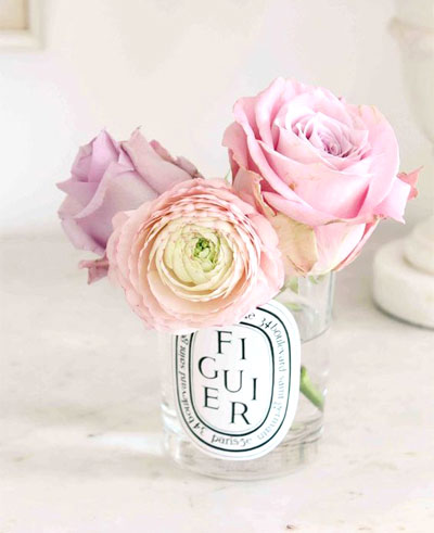 LOVIKA | 40 Decor Ideas to Reuse Your Diptyque Candles Jars - Coffee tables in the living rooms