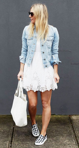 LOVIKA | 40 Stylish denim jacket outfit ideas to wear this Spring
