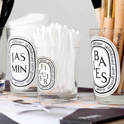 LOVIKA | 40 Decor Ideas to Reuse Your Diptyque Candles Jars - How to recycle and make it stylish