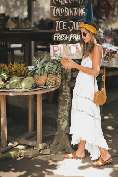 How to wear a straw tote bag this Summer | 45 outfit ideas at Lovika