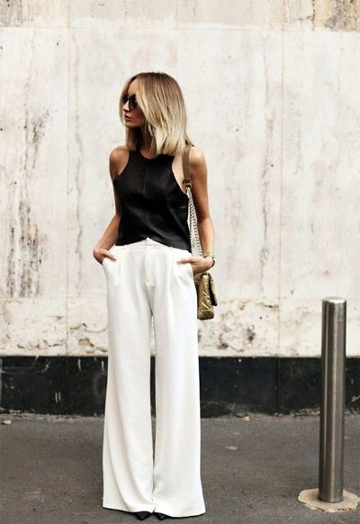 40 Amazing White Wide Leg Pants Outfit Ideas to Try This Summer | See ALL outfits at Lovika
