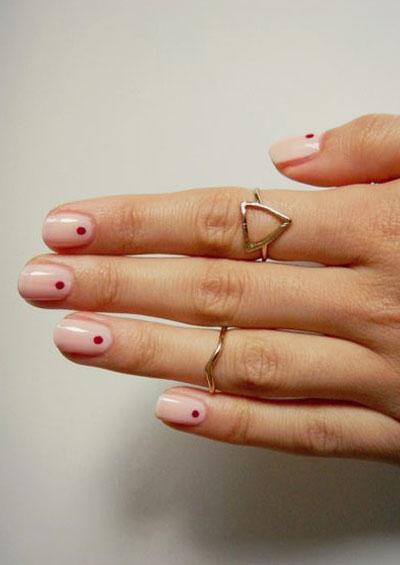 22 Simple Dots Nail Design for Minimalist   See ALL at Lovika