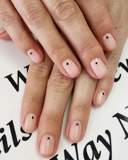 22 Simple Dots Nail Design for Minimalist | See ALL at Lovika