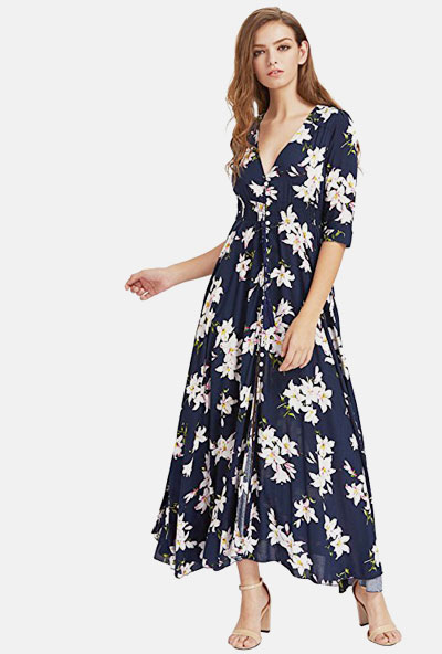 Amazon Finds - 15 Long Casual Floral Dresses that Look So Beautiful | Shop at Lovika